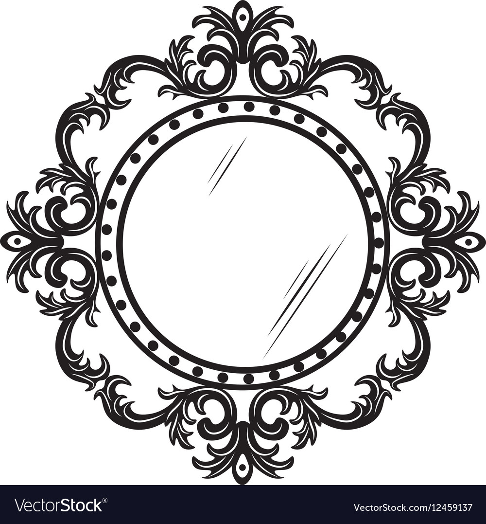 vintage round ornamented frame royalty free vector image rh vectorstock com vintage frame vector cdr vintage frame vector free