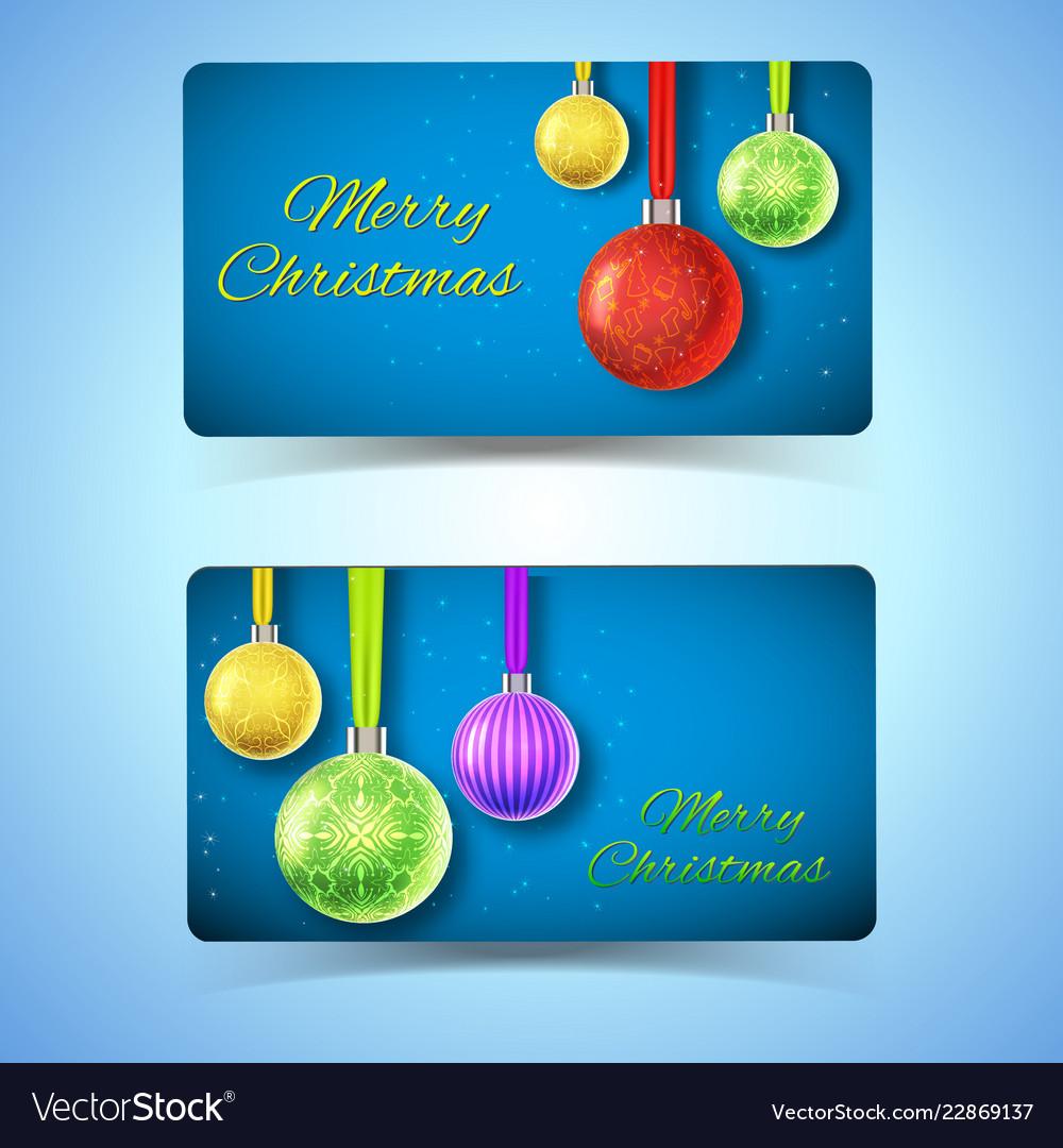 Winter holidays horizontal banners