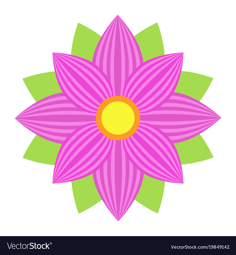 Flower astra flat icon easter and holiday