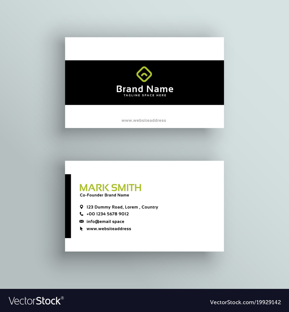 Minimal modern business card template Royalty Free Vector