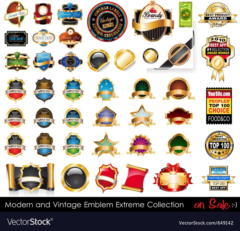 Modern and vintage emblems