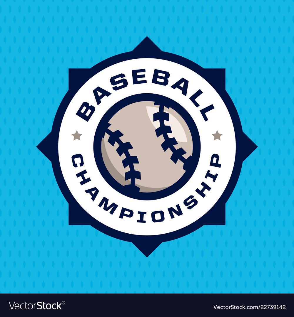 Modern professional emblem for baseball game