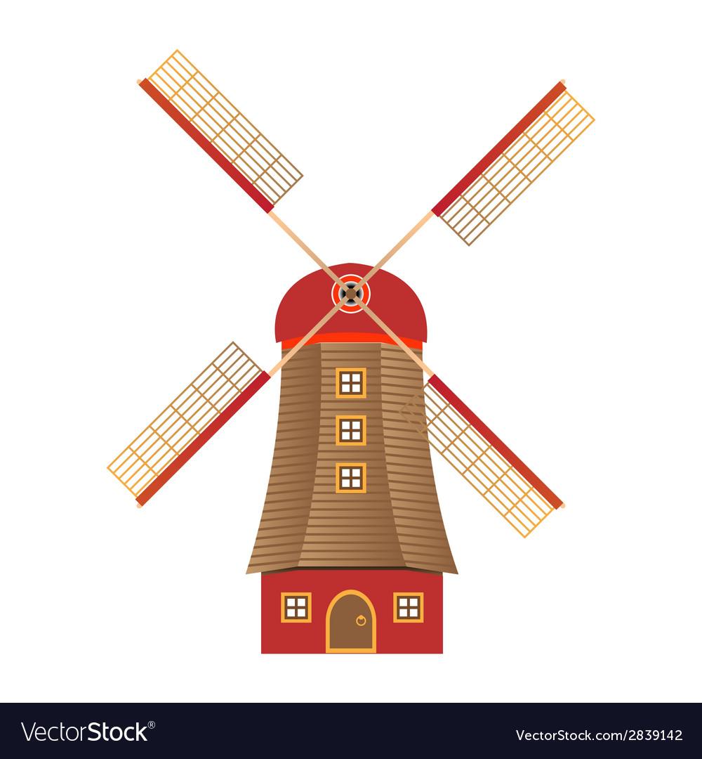windmill royalty free vector image vectorstock rh vectorstock com windmill vector clipart windmill vector freepik