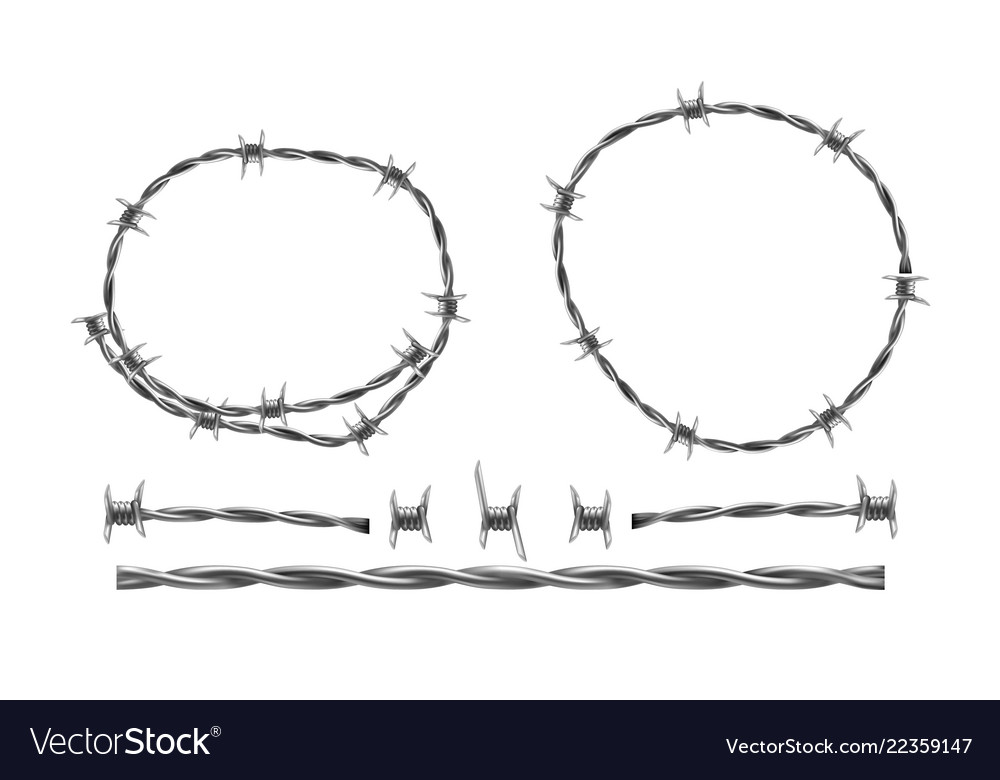 Barbed wire separate elements and parts