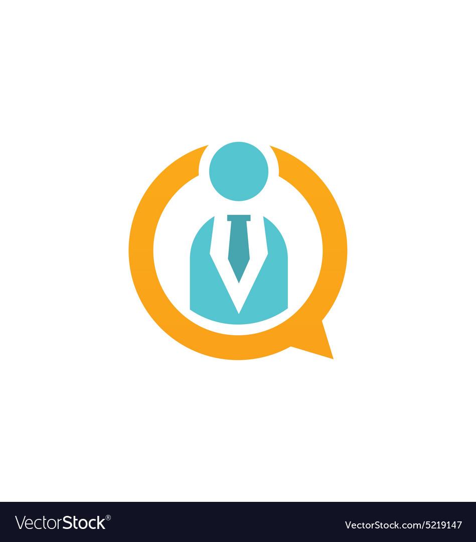Business man people icon communication logo