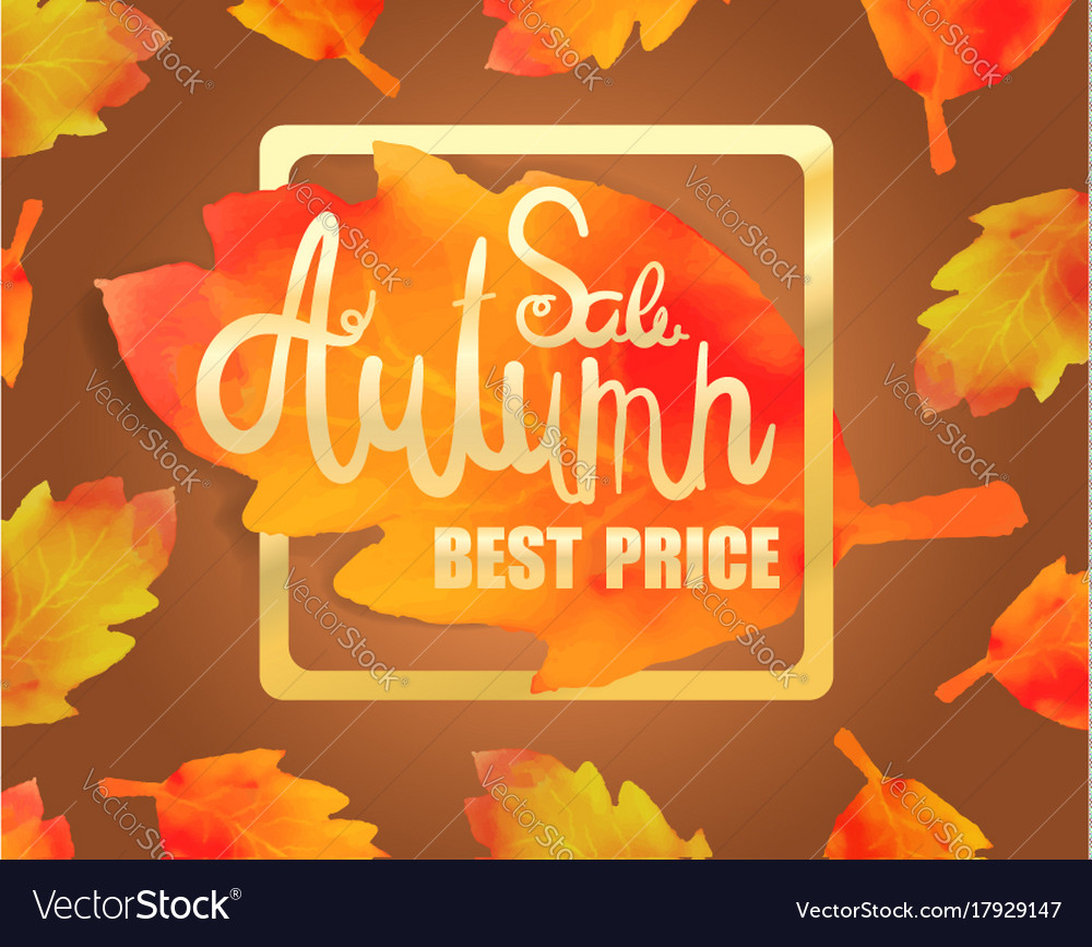 Calligraphy poster for autumn sale
