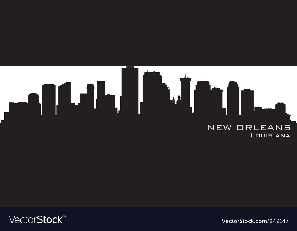 new orleans louisiana skyline royalty free vector image rh vectorstock com Night Skyline New Orleans Skyline