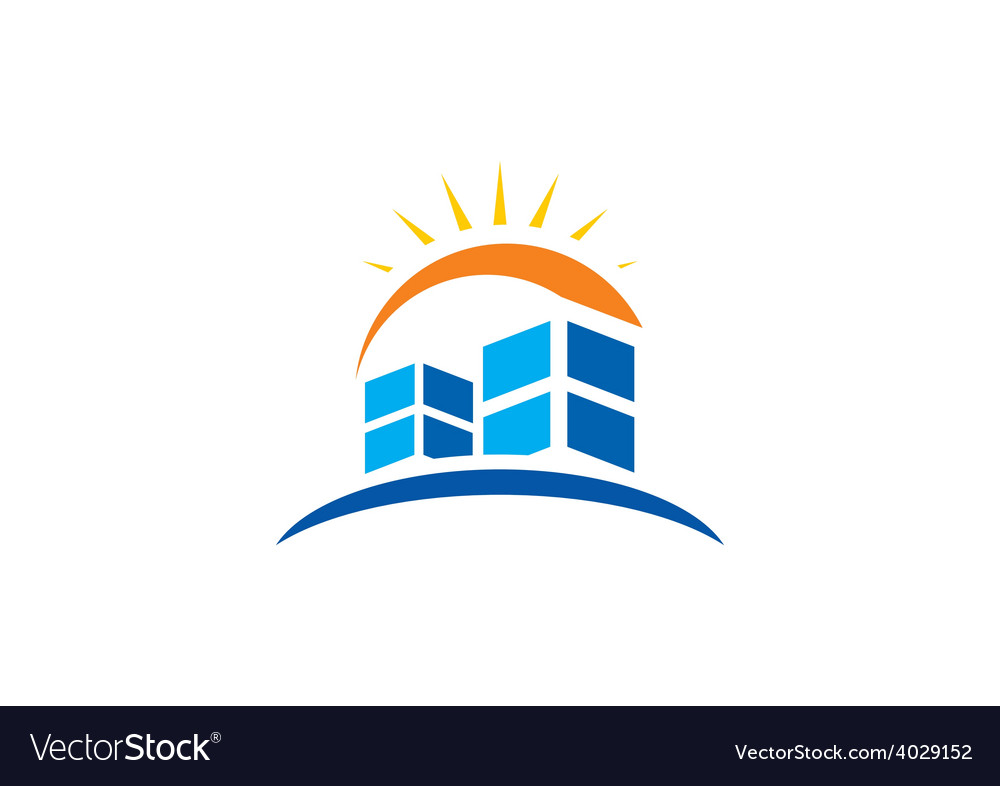 Abstract city building logo