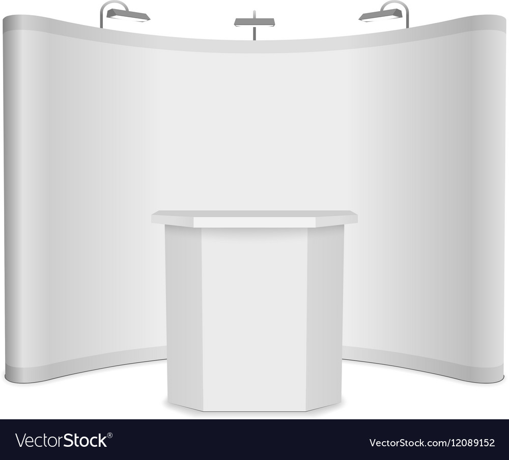 Exhibition Stand Banner : Blank exhibition stand with banner and royalty free vector