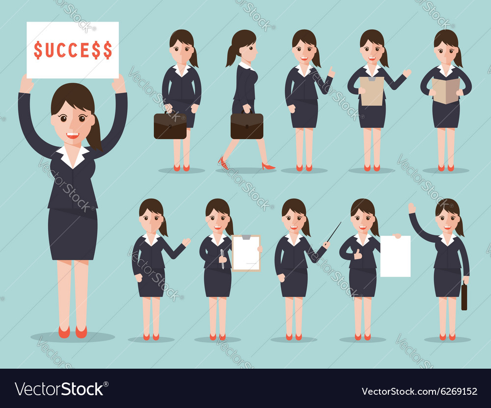 Business woman character set