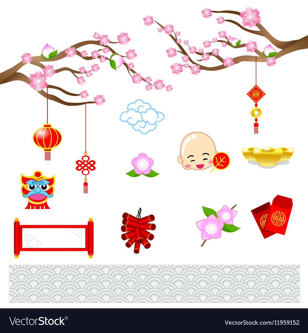 chinese new year modern art with chinese style for vector image