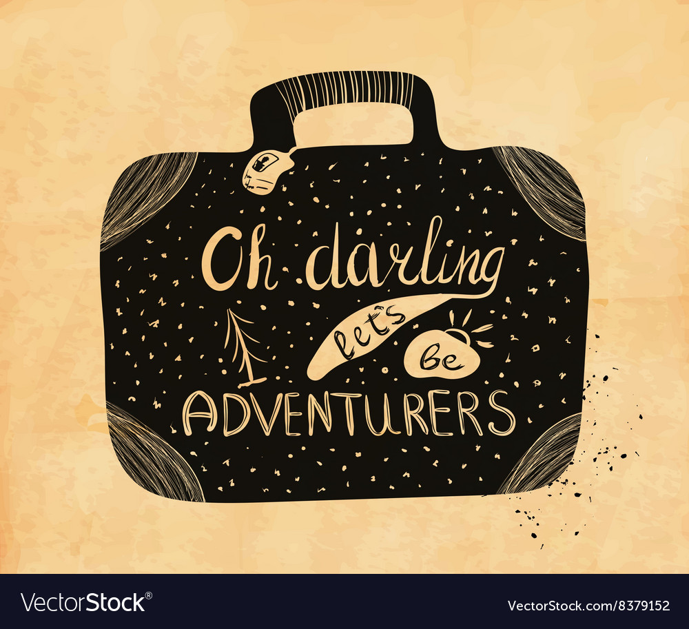 Poster about travel and adventure in retro style