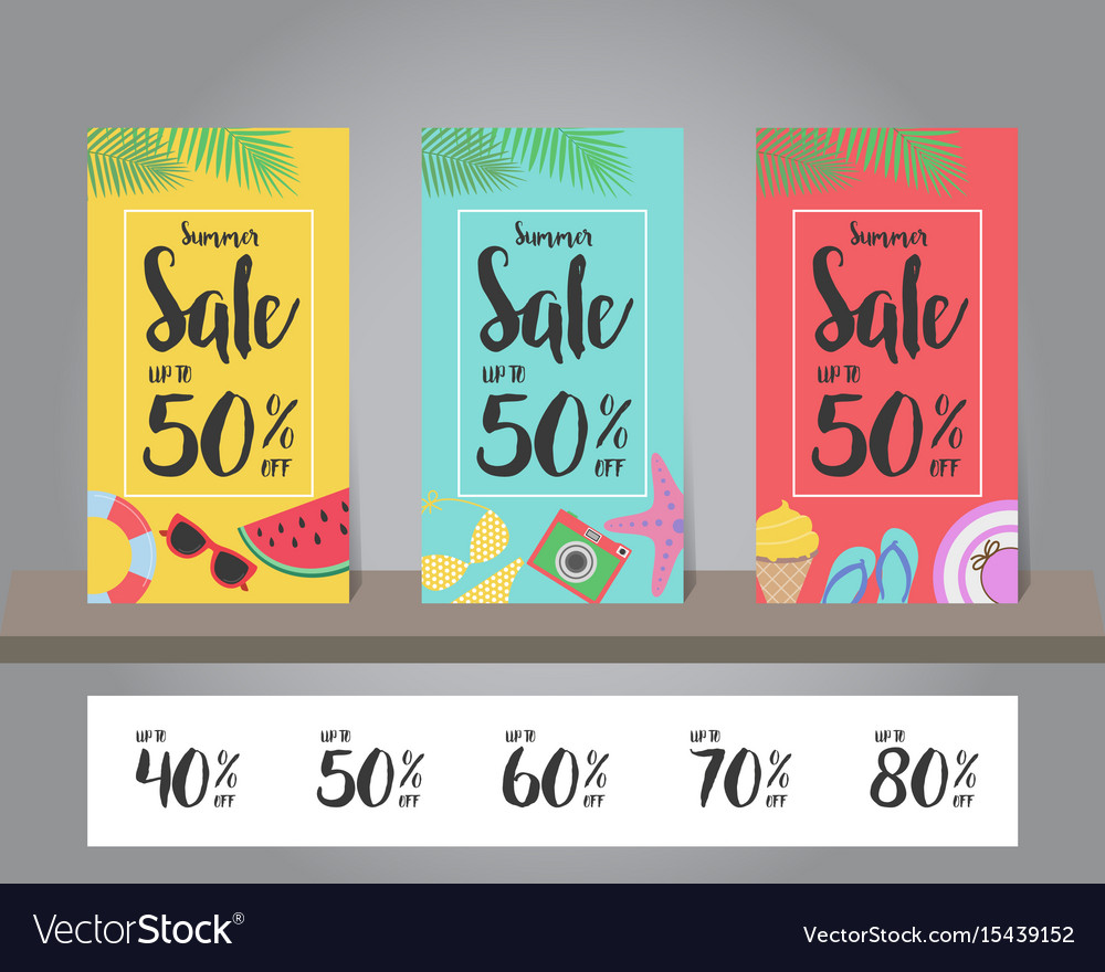 Summer sale background for template design