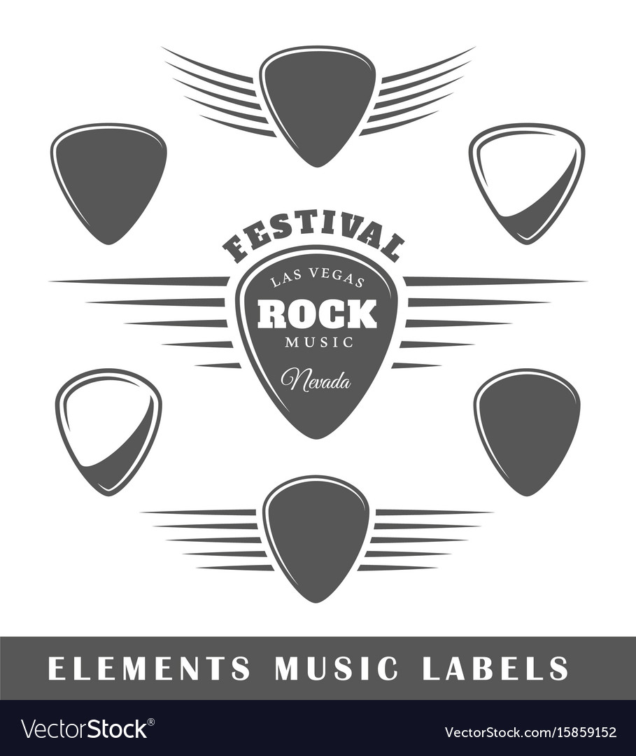 Templates for music labels Royalty Free Vector Image