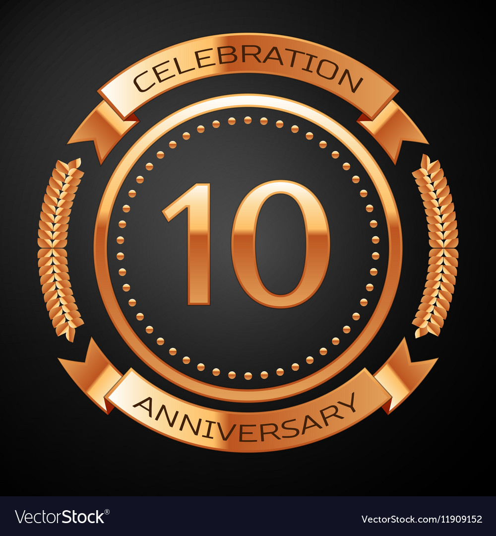 Ten Years Anniversary Celebration With Golden Ring