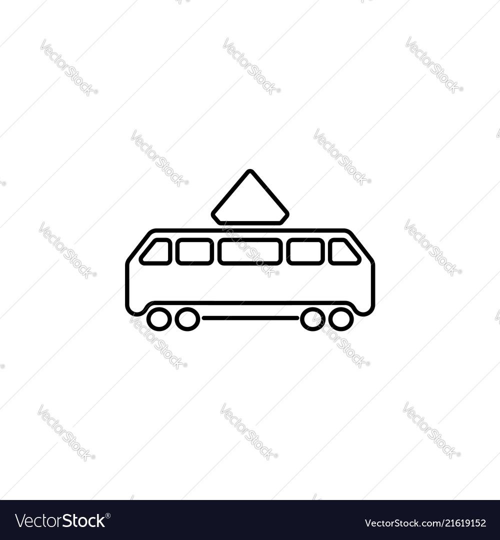 Tram icon black on white