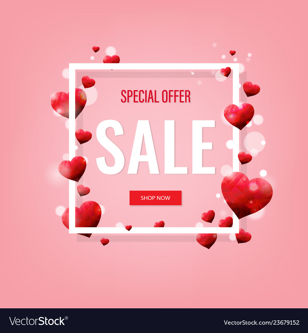 Valentines day sale poster