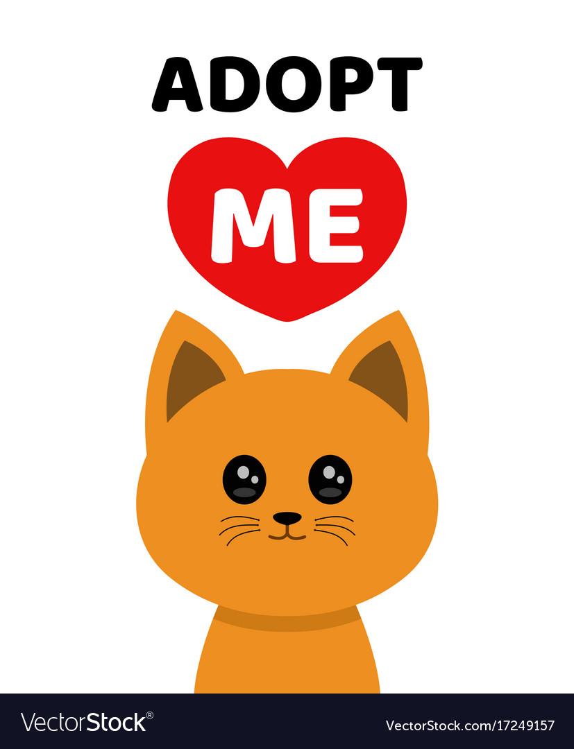 Adopt Me Dont Buy Cat Pet Adoption Royalty Free Vector Image