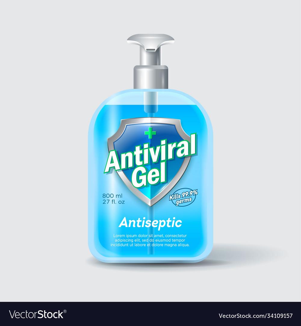 Antiseptic sanitizer label liquid medical cross