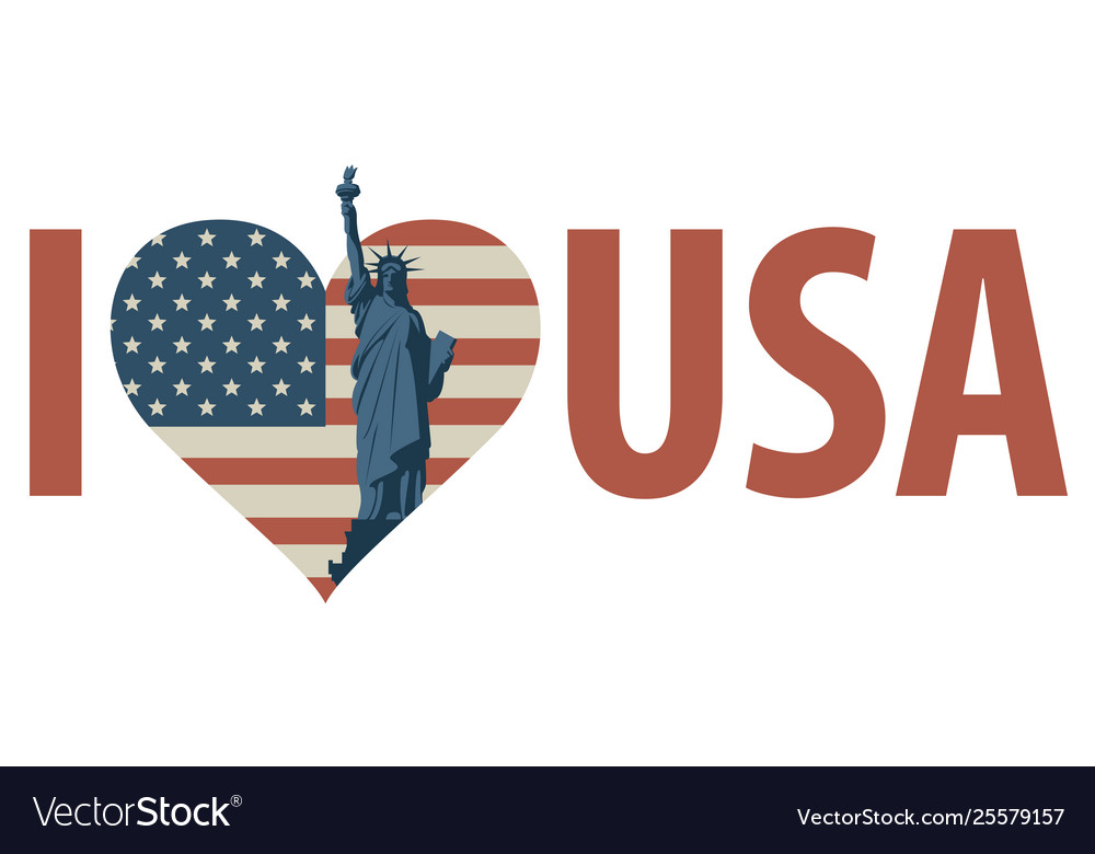 Download Calligraphic lettering i love america with us flag