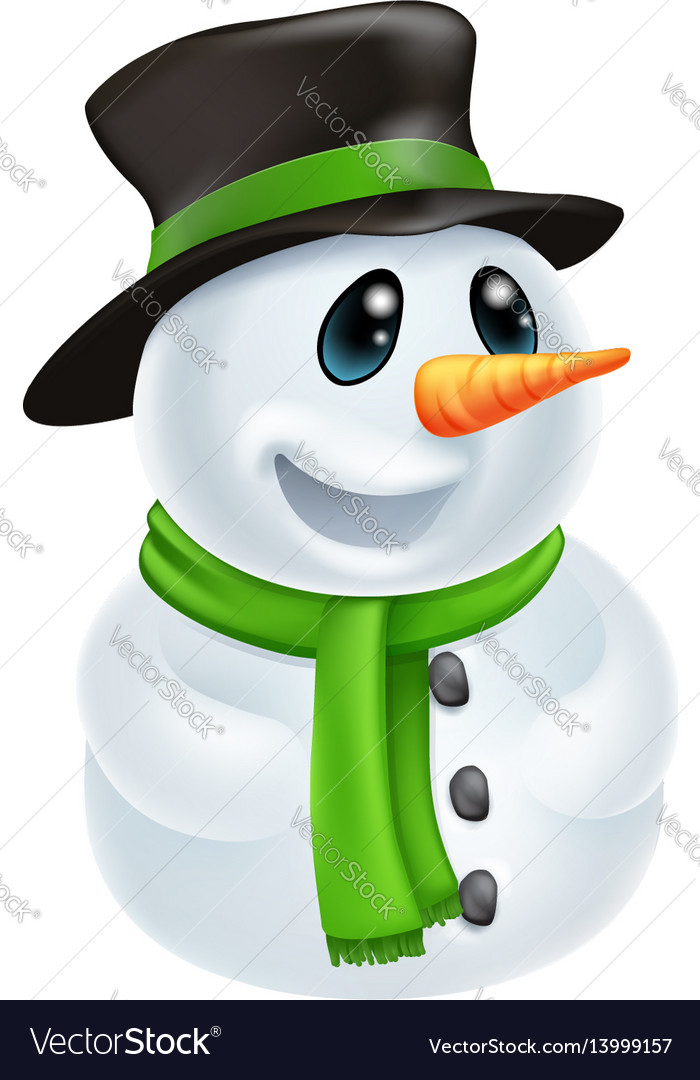 Cartoon christmas snowman