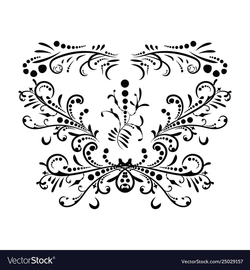 Classic black pattern damask orient