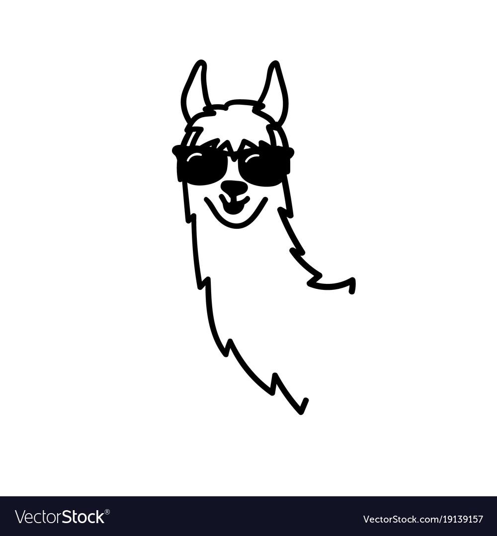 Cute character lama