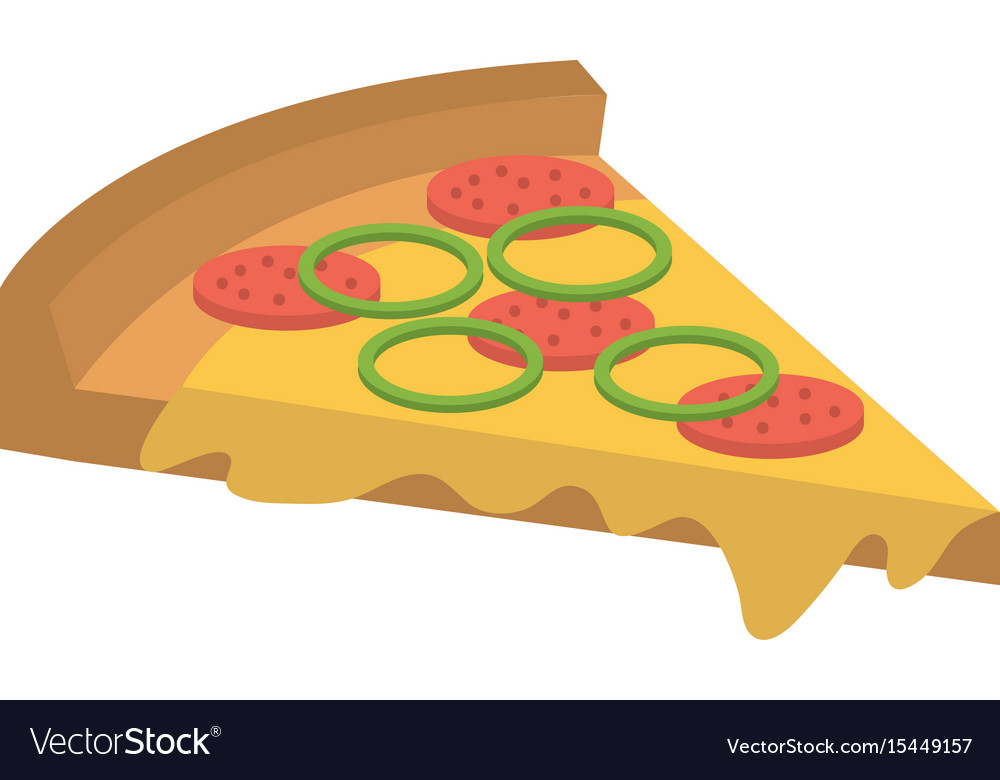Delicious italian pizza icon vector image