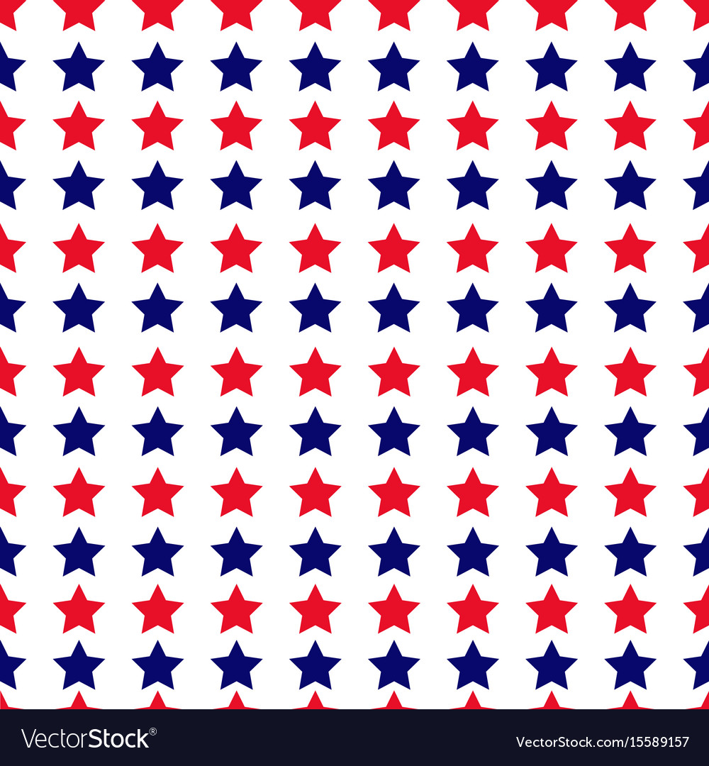 Independence day seamless pattern with stars