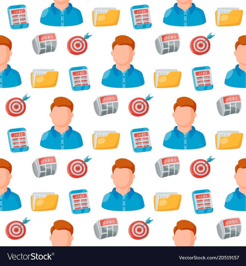 Job search seamless pattern background
