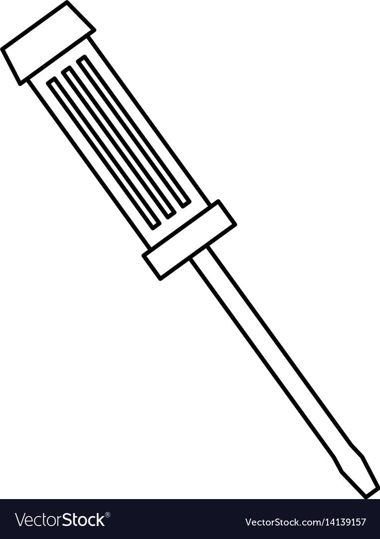 Screwdriver construction tool equipment vector image