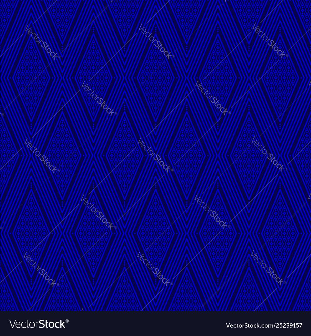 Seamless thai pattern blue and white modern shape