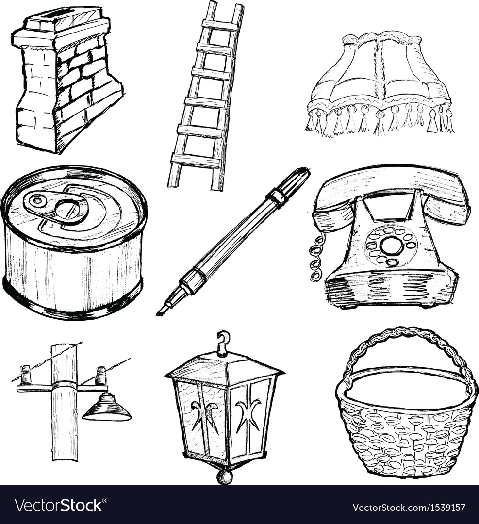 Set of home related vector image