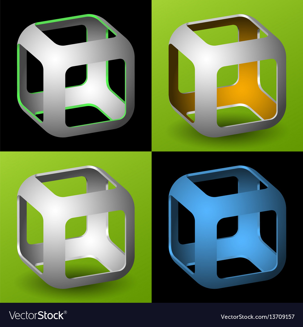 Smoothed 3d cube with openings