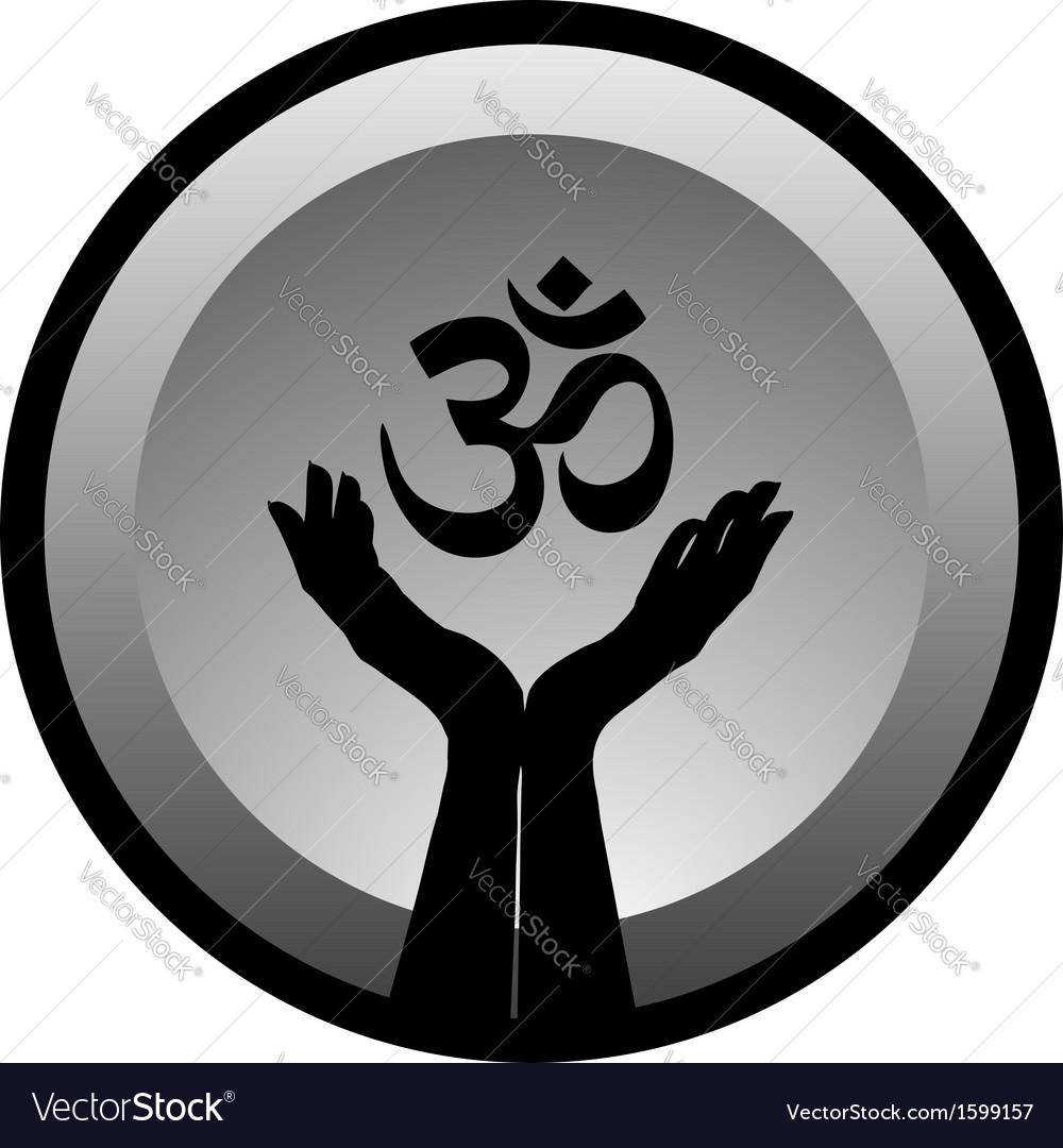 Symbol of Hinduism vector image