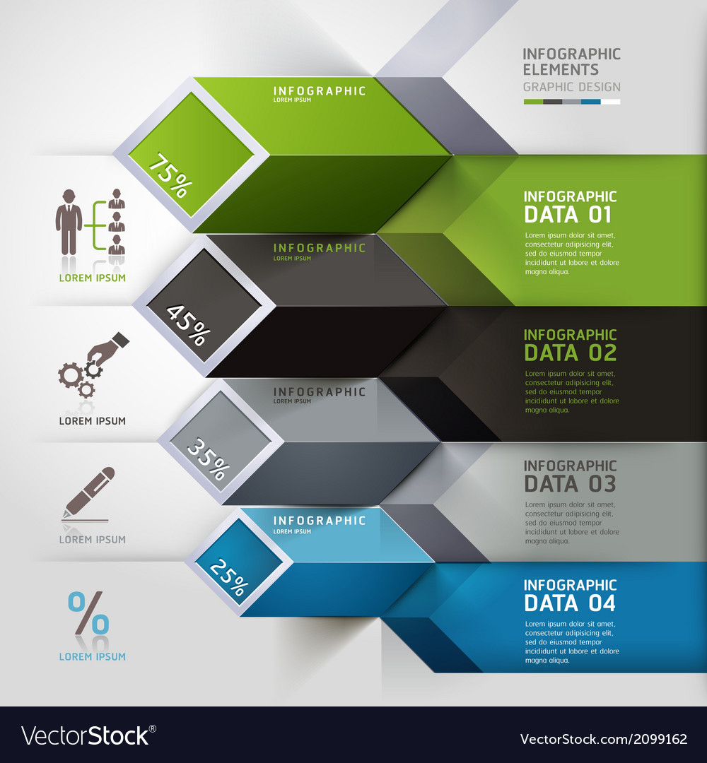Business step infographics elements