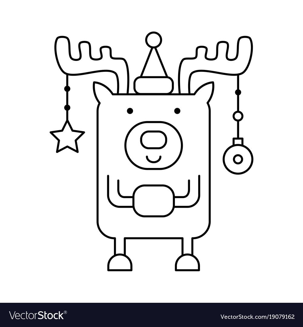 Deer coloring page Royalty Free Vector Image - VectorStock