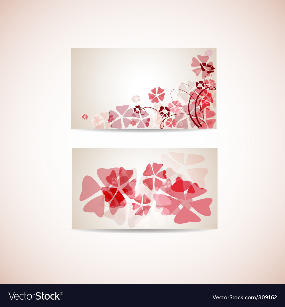 Floral business card template royalty free vector image floral business card template vector image cheaphphosting Gallery