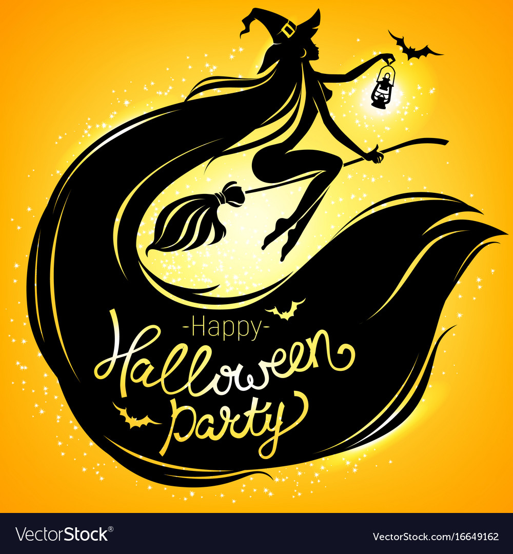 Happy halloween party bright poster