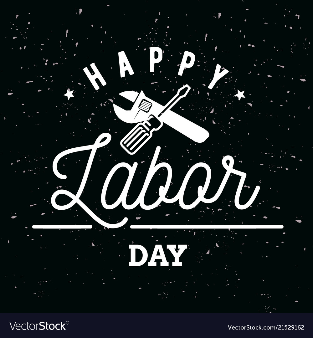 Happy labor day emblems