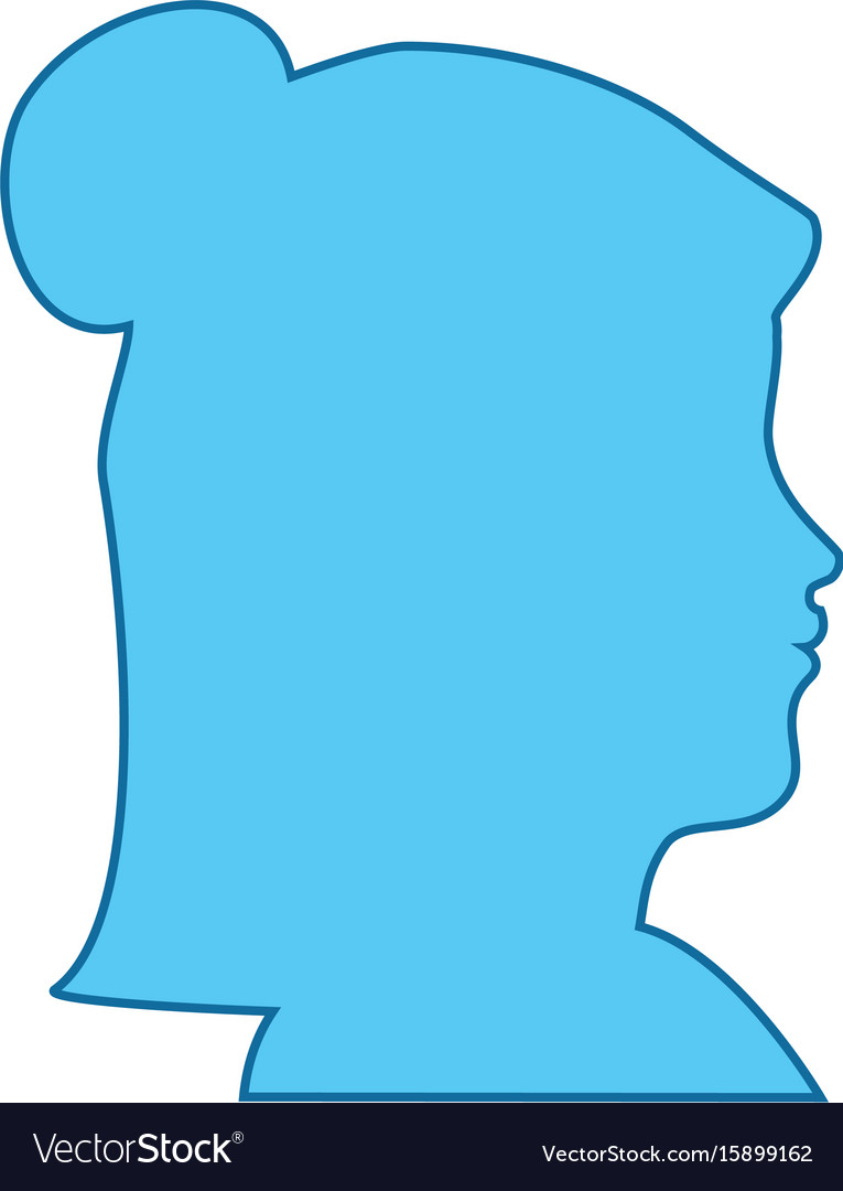 Isolated blue women face