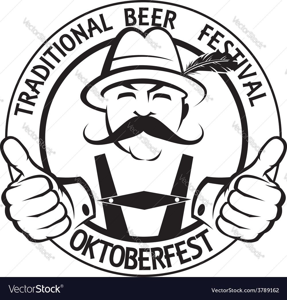 Oktoberfest label vector image