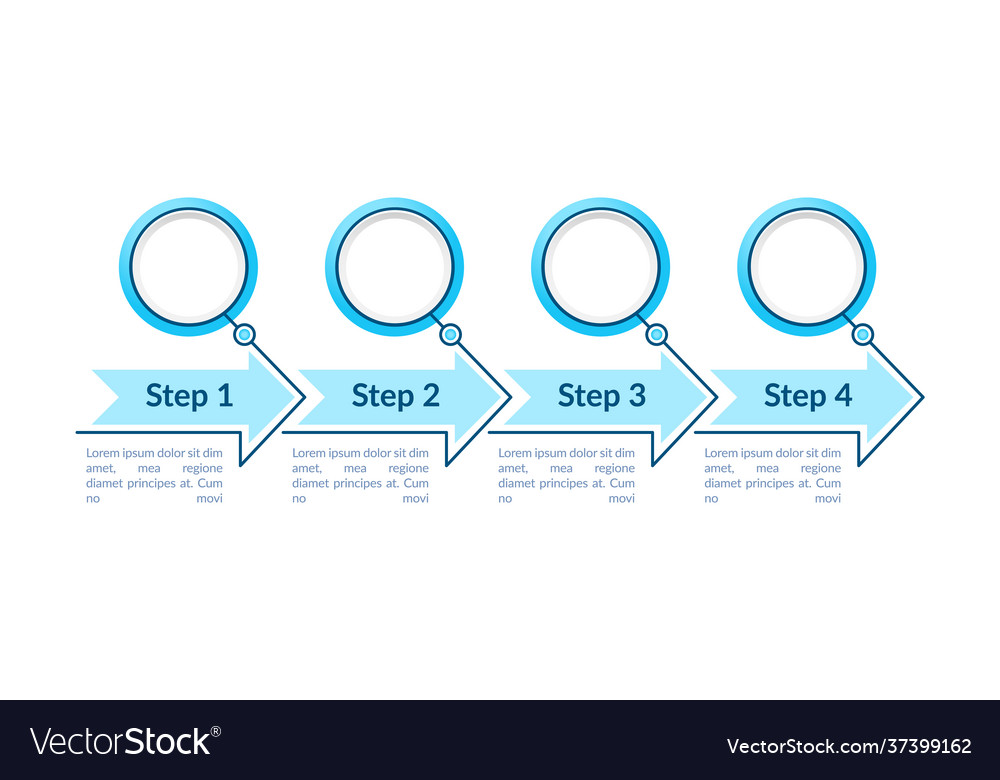 One colored circles steps infographic template
