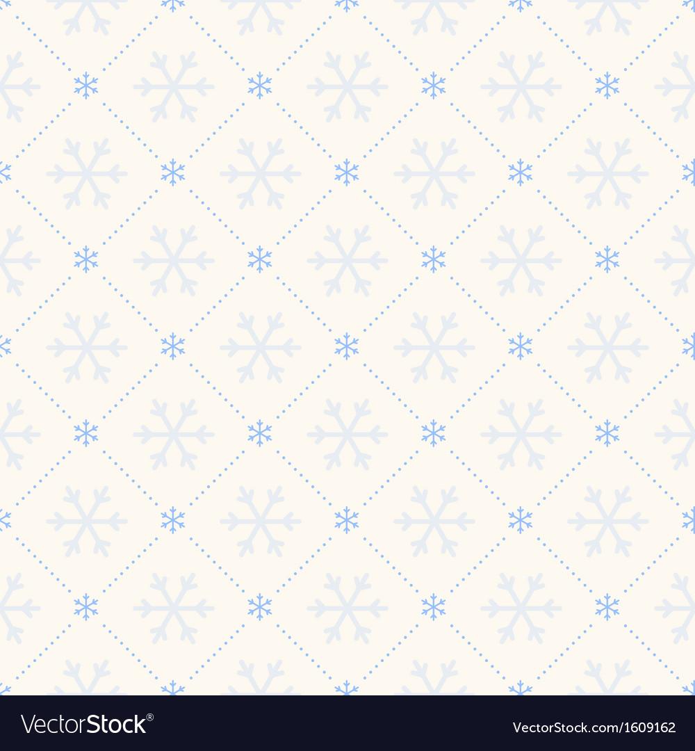 Seamless winter retro pattern vector image