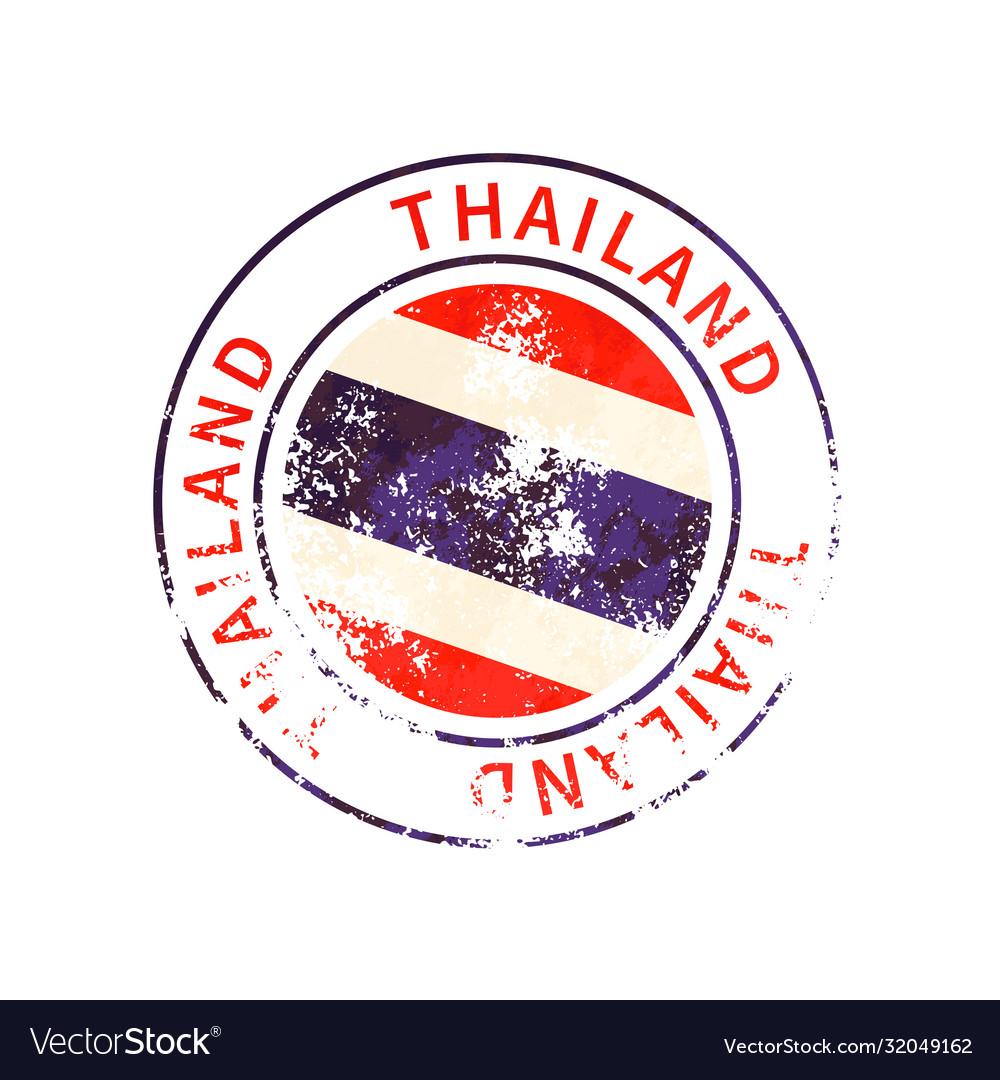Thailand sign vintage grunge imprint with flag on