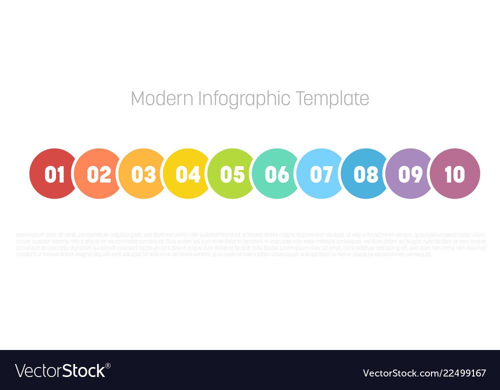10 step process modern infographic diagram graph