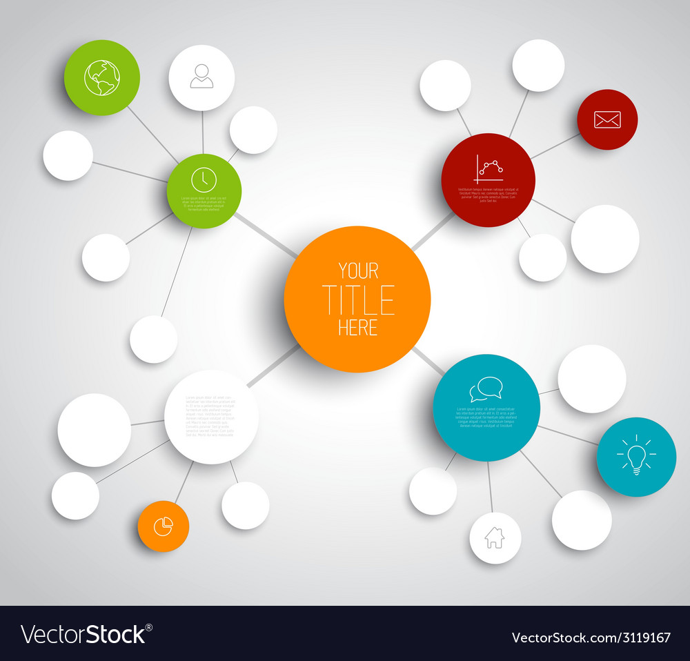 abstract mind map template royalty free vector image