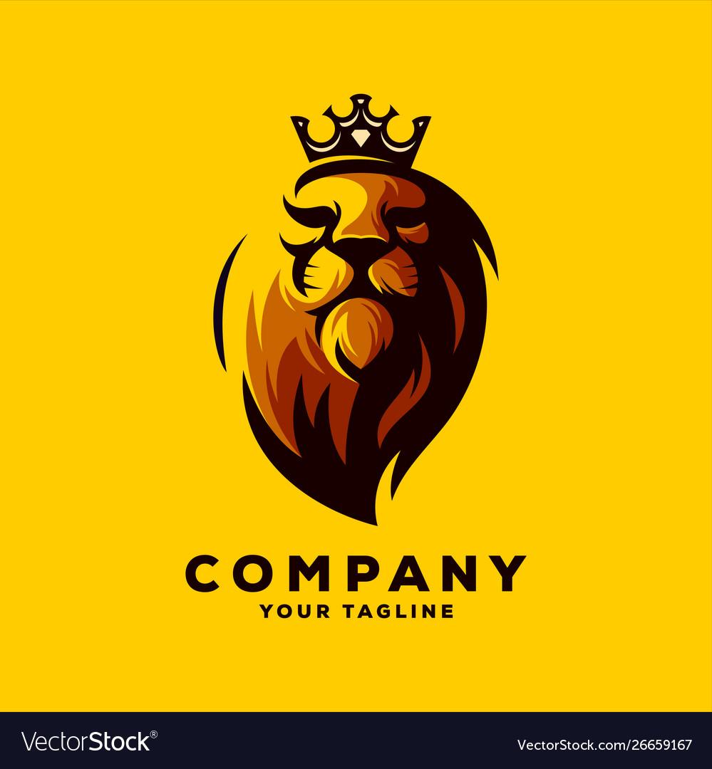 Awesome lion king logo design