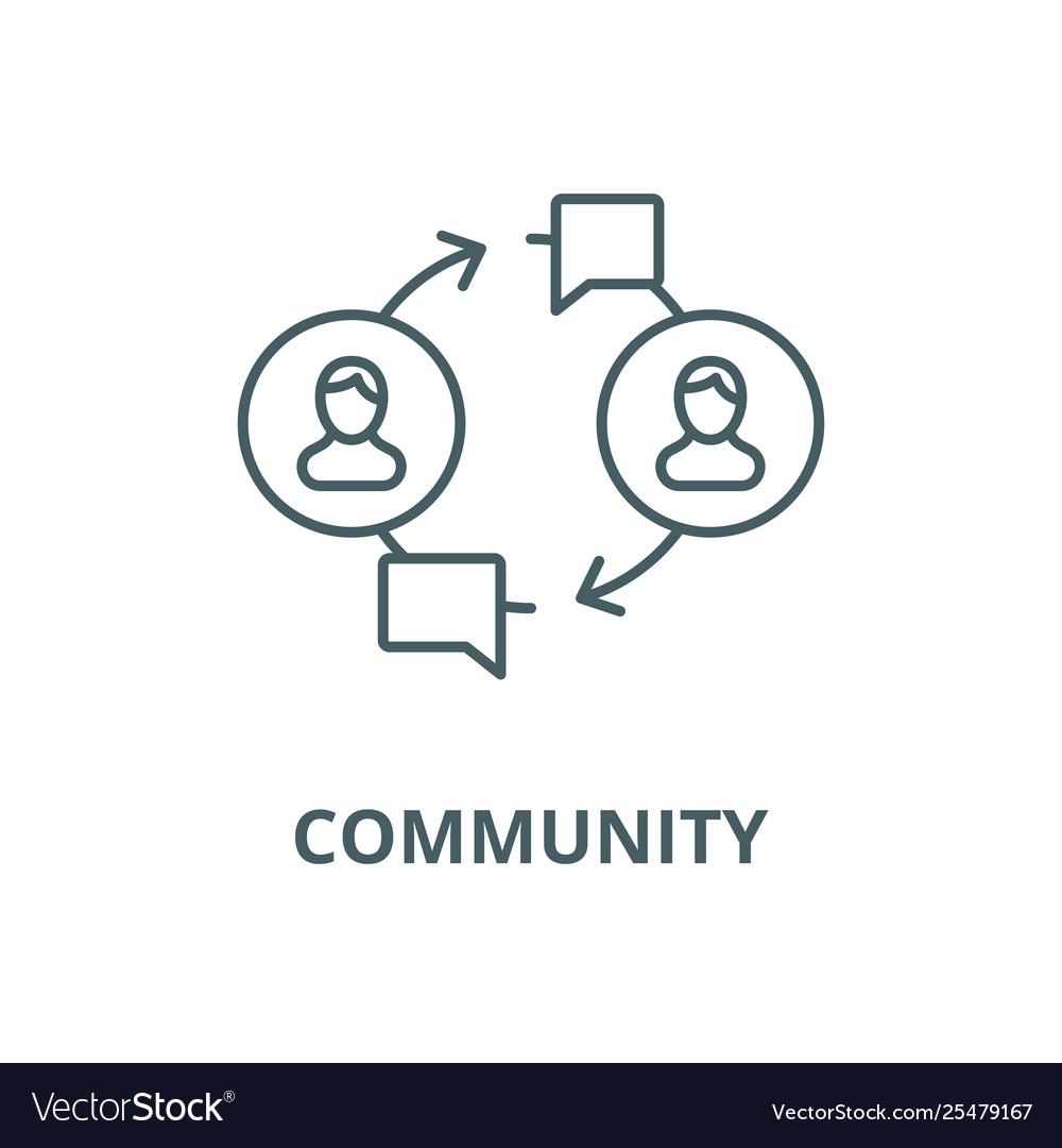 Community line icon linear concept