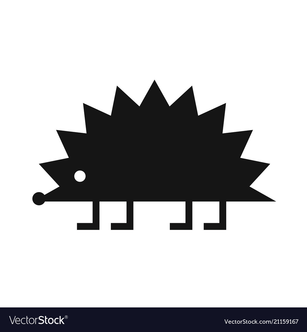 Hedgehog black icon